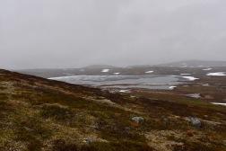 järvi osin jäässä