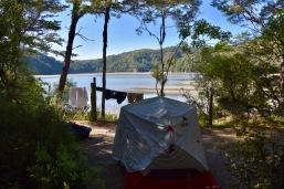 täydellinen telttapaikka Torrent Bayssa