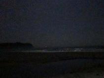 hot water beach yöllä